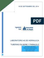 Laboratorio N_2 Hidraulica 2014 B