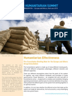 Humanitarian Effectiveness - Briefing Note