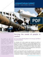 Serving the Needs of People in Conflict - Briefing Note