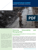 Reducing Vulnerability and Managing Risk - Briefing Note