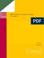 Methodes de francais langue etrangere
