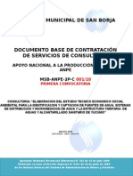 Dbc-consultoría Tesa Captación Agua Potable y Alcantarillado Yucumo