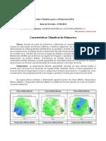 Características Climáticas da Primavera 2014