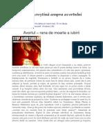 Proiect ReligiePerspectiva Creştină Asupra Avortului
