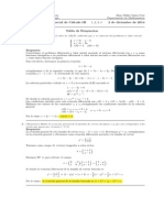 Corrección Segundo Parcial Cálculo III, 2 de diciembre de 2014