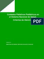 Cuidados Paliativos Pediatricos Sistema Nacional de Salud