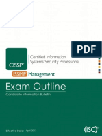 Cissp -Issmp Exam Outline