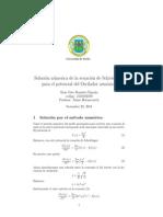 solución numerica de la ecuación de Schrödinger para el oscilador armónico