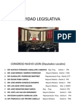 actividades legislativas