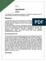 Final Report - Electrochemistry Lab, JU