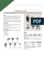 Válvula Diafragma DV-ST UltraPure
