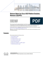 Cisco UCS Platform Emulator Release Notes Version 2.2(2cPE1)