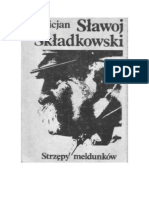 Felicjan Sławoj Składkowski - Strzępy meldunków - 1988 (zorg)