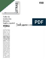 Taller de traducción literaria