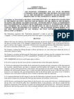 Common Stock Subscription Agreement