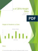 class of 2016 height data