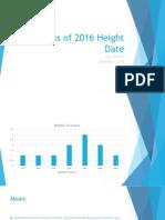 class of 2016 height date