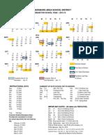 CASD proposed 2015-16 calendar