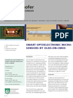 Smart Optoelectronic Micro Sensor by OLED on CMOs
