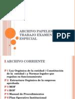 Archivo Papeles de Trabajo Examen Especial