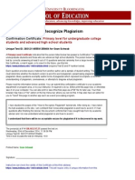 confirmation certificate how to recognize plagiarism school of education indiana university at bloomington