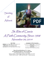 St. Rita Parish Bulletin 11/30/2014