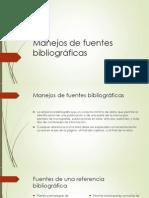 Manejos de Fuentes Bibliográficas
