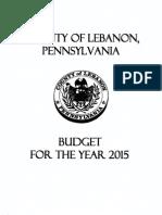 2015  Lebanon County budget