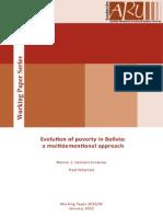 Evolution of Poverty in Bolivia