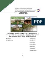 Aportes Indigenas y Campesinos a La Arquitectura Sostenible