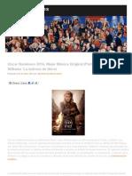 01-Oscar Nominees 2014, Mejor Música Original (Parte 1 de 6)_ John Williams 'La Ladrona de Libros _ Película Notas de La Música