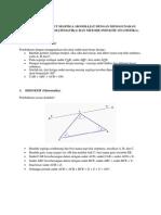Pembuktian Sudut Segitiga 180 Derajat Dengan Menggunakan Metode Deduktif