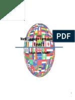 World Languages Curriculum Map Level I