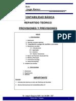 Contabilidad, Provisiones y Previsiones. Cálculos