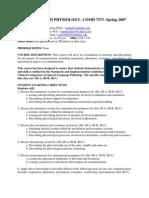 UT Dallas Syllabus for comd7373.001.07s taught by Dianne Altuna (daltuna)