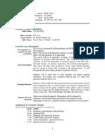 UT Dallas Syllabus for biol6v29.001.07s taught by Lee Bulla (bulla)