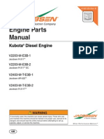 Manual de partes Kubota V2203 Series
