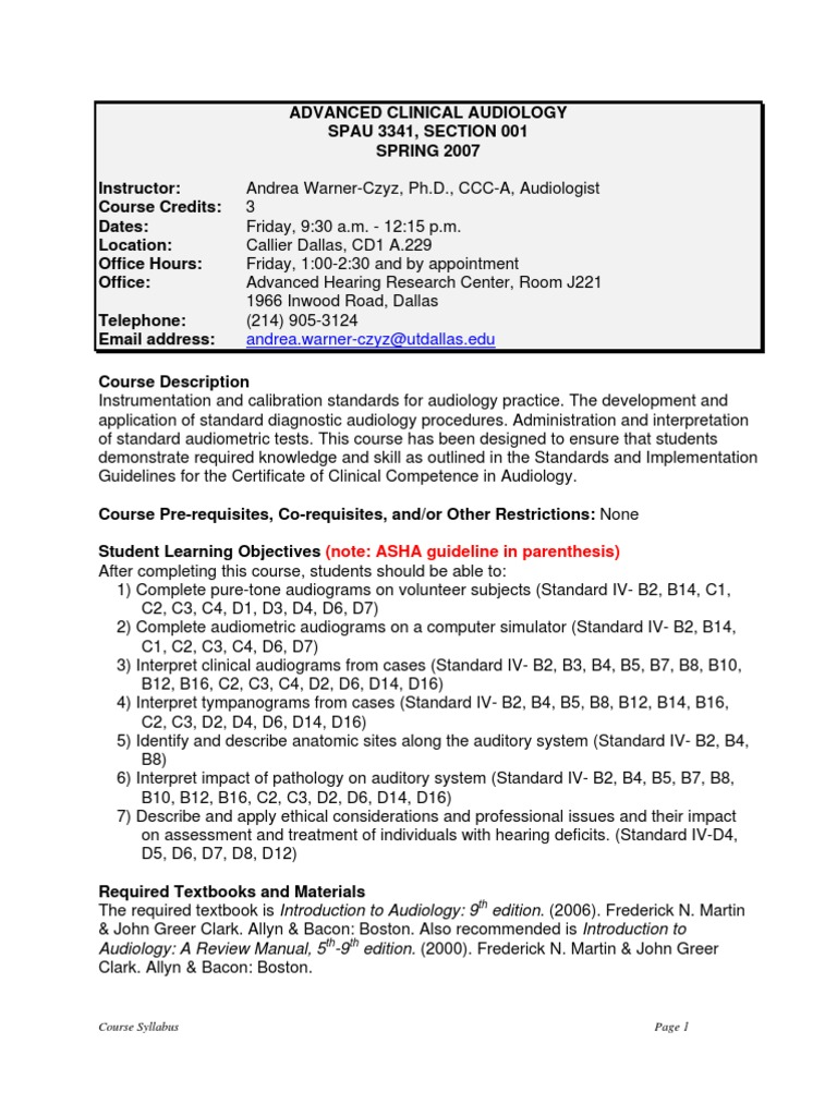 Ut dallas syllabus for spau334100107s taught by kbuckley ut dallas syllabus for spau334100107s taught by kbuckley academic dishonesty audiology xflitez Gallery