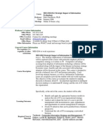 UT Dallas Syllabus for mis6302.0g1.06u taught by   (dchisam)