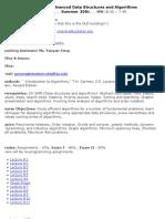 UT Dallas Syllabus for cs4349.581.06u taught by Ramaswamy Chandrasekaran (chandra)
