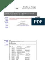UT Dallas Syllabus for cs1336.501.06f taught by Timothy Farage (tfarage)