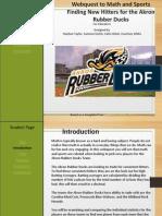 math and sports webquest