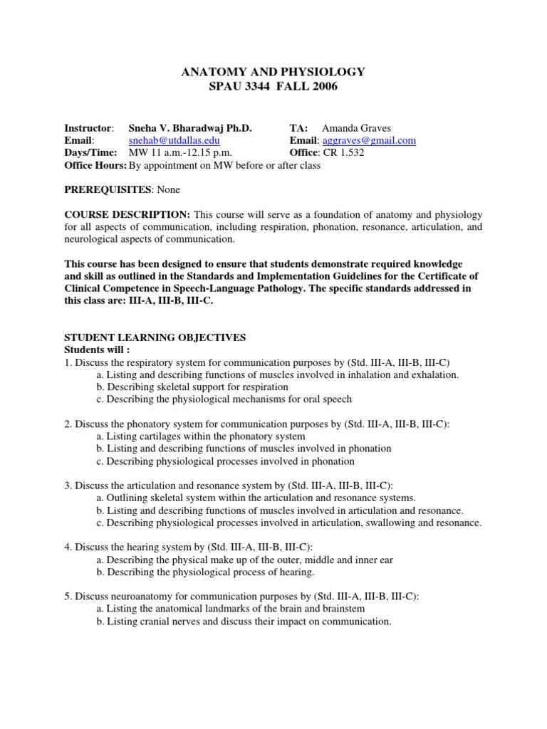 UT Dallas Syllabus for spau3344.001 06f taught by Sneha Bharadwaj ...