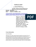 UT Dallas Syllabus for meco6215.0g2 06f taught by Peter Lewin (plewin)