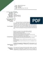 UT Dallas Syllabus for isns3367.001 06f taught by William Manton (manton)
