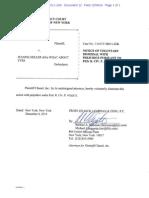 Chanel, Inc. v. Heller, 1-14-CV-08011-JGK (S.D.N.Y.) (Notice of Voluntary Dismissal With Prejudice)