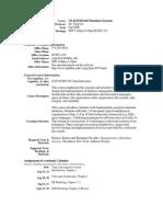 UT Dallas Syllabus for cs4347.501 06f taught by Ying Liu (yxl059100)