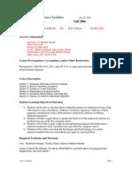 UT Dallas Syllabus for cs4334.501 06f taught by Bentley Garrett (btg032000)