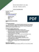 UT Dallas Syllabus for cldp4334.001 06f taught by John Santrock (santrock)