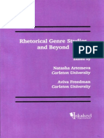 Artemeva & Freedman Rhetorical Genre Studies and Beyond